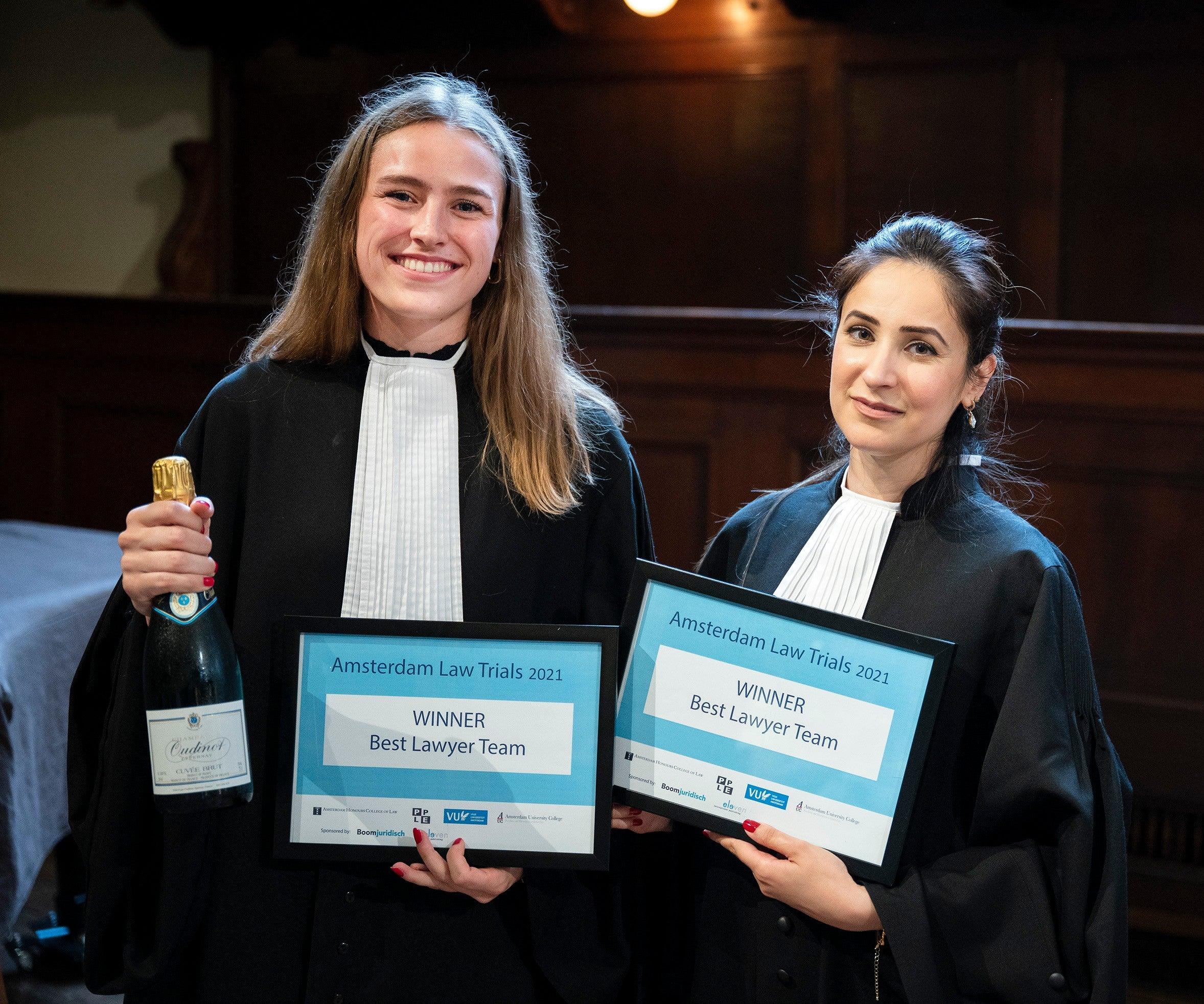 Bowien Ravesteijn and Nadia Rashid (Best Lawyer Team)
