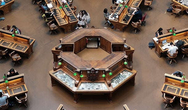 Foto van de nationale bibliotheek van Peru.