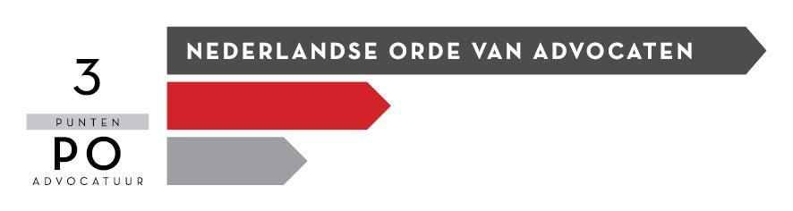 Logo Nederlandse Orde van Advocaten (NOvA) 3 PO punten