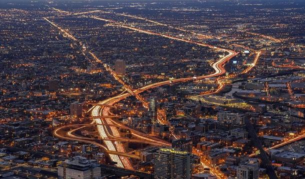 freeway by night