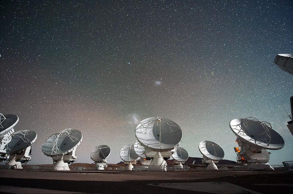ALMA radio telescope in Chili. Photo credits: Christoph Malin