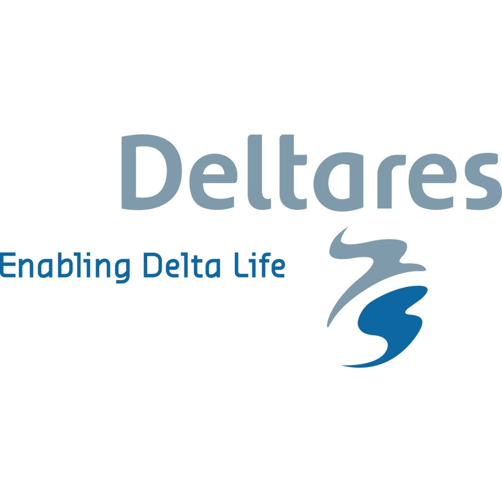 Logo of the company Deltares only letters
