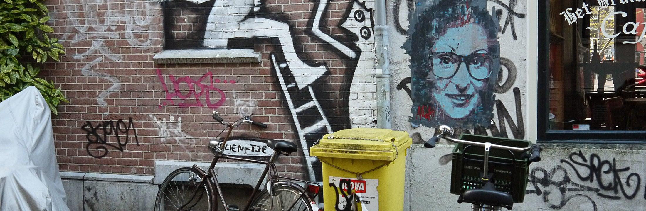 Huis met graffiti