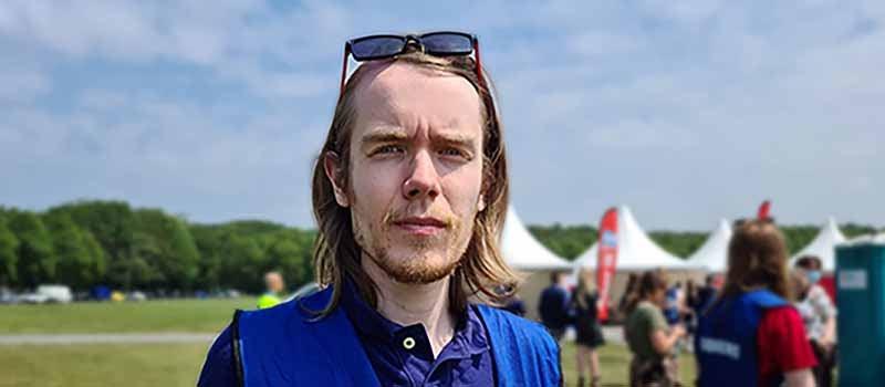 Pieter van Rossum SRVU tijdens woonprotest