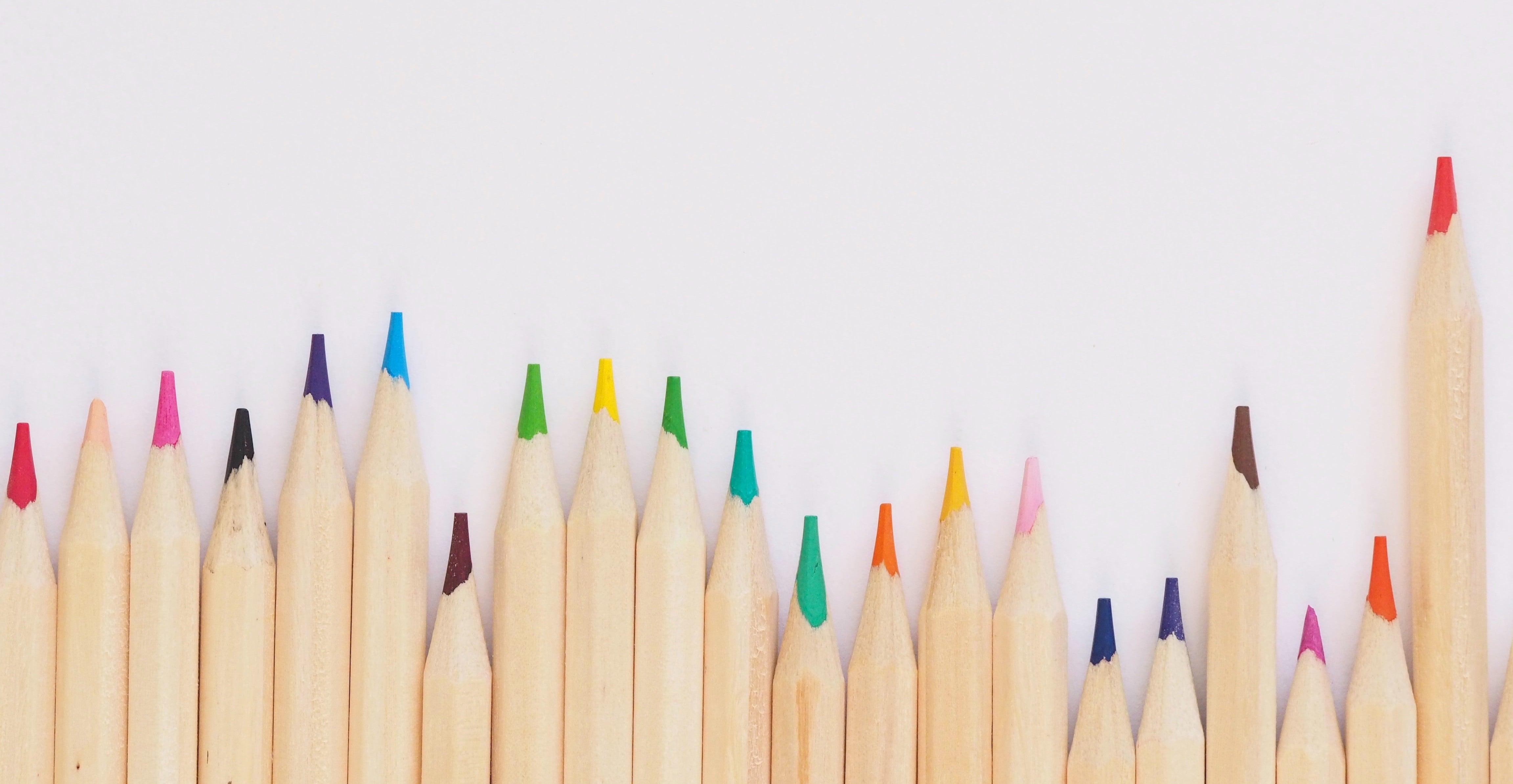 Kleurpotloden meten publieke waarde unsplash