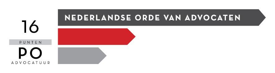 Logo Nederlandse Orde van Advocaten (NOvA) 16 PO punten