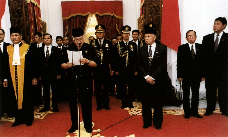 Resignation president Suharto, 1998